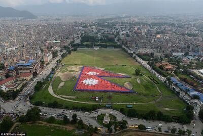 More than 35,000 Nepalese set for official attempt for Guinness World Record for the biggest human national flag